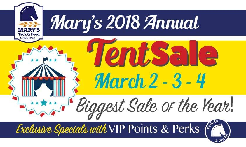 marys tent sale